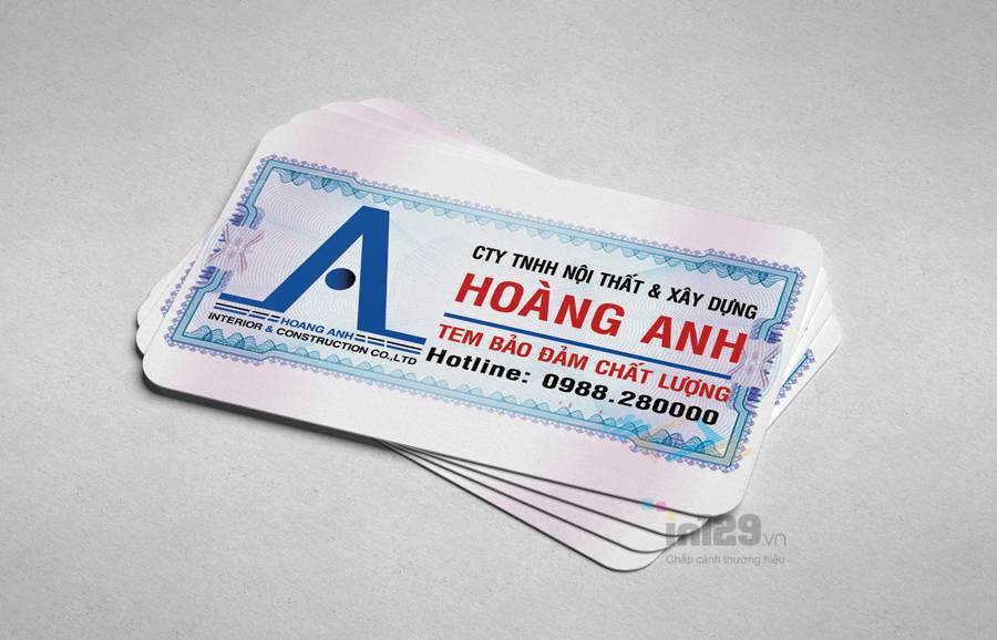 lưu ý khi in tem bảo hành