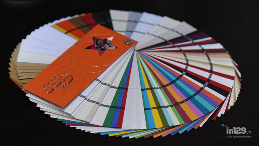 Loại giấy mỹ thuật cao cấp dùng để khách hàng lựa chọn tại cơ sở In129.vn