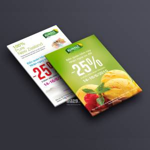In tờ rơi quảng cáo giảm giá kem NZ
