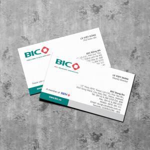 In card visit Tổng Công ty Bảo hiểm BIDV (BIC)