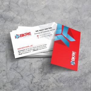 In card visit Công ty phân phối vật tư điện lạnh BKRE