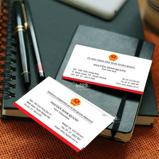 In card visit cơ quan Ủy ban nhân dân tỉnh Tuyên Quang