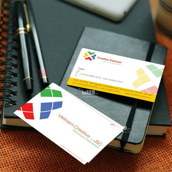 In card visit công ty thiết kế website Creative Việt Nam