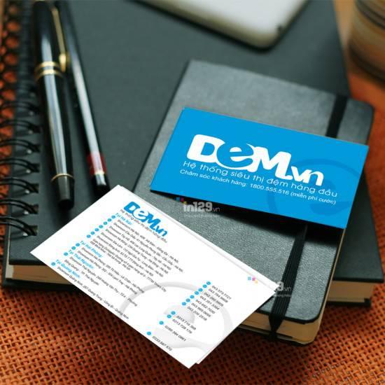 In card visit cho hệ thống cửa hàng Dem.vn