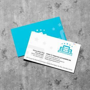 In card visit Công ty du lịch Khánh An