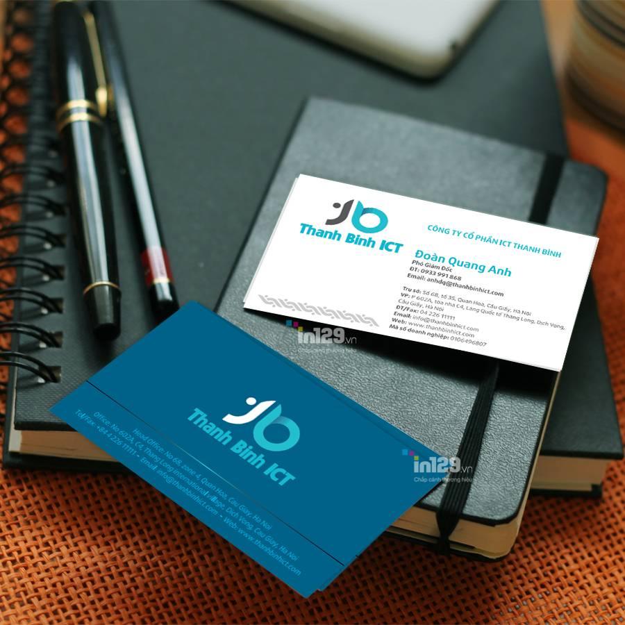 mẫu card visit đẹp và phù hợp với thương hiệu Thanh Bình ICT
