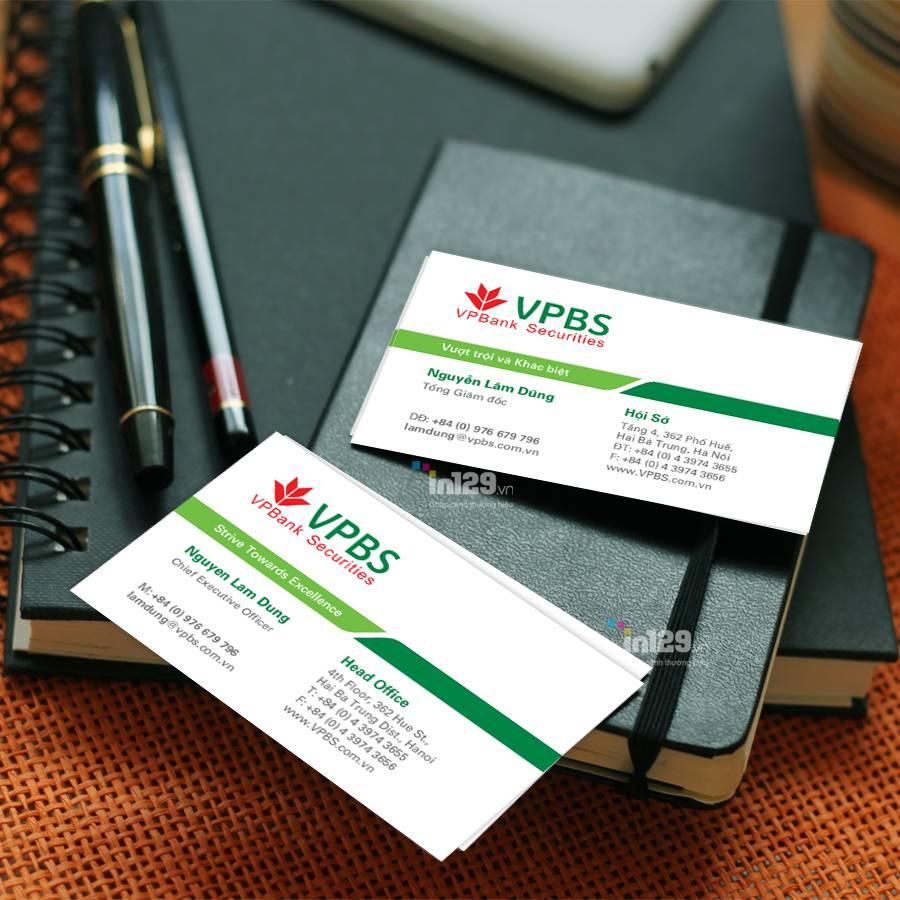 mẫu card visit ngân hàng vpbank