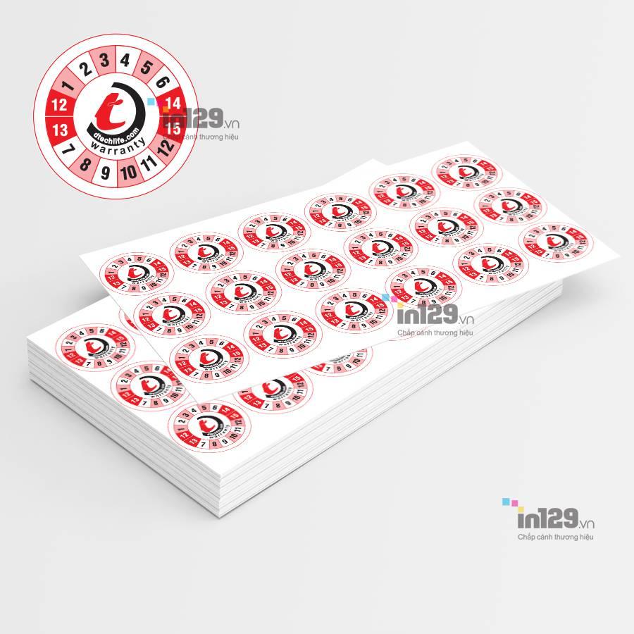 mẫu tem bảo hành hình tròn đepj