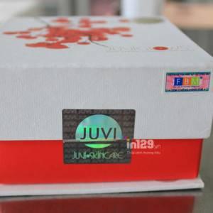 In tem niêm phong mỹ phẩm Juvi