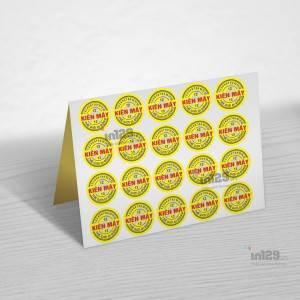 In ấn tem cửa hàng Kiên Mây