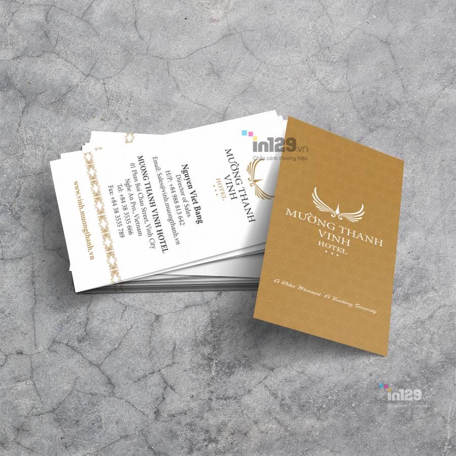 mẫu card visit khách sạn đẹp