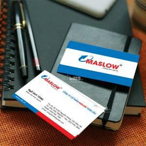 In ấn card visit Công ty cổ phần Maslow