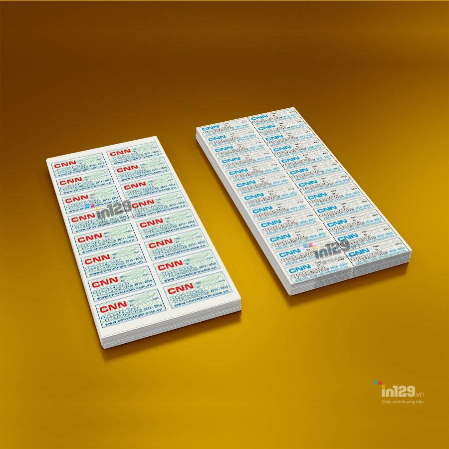 mẫu tem bảo hành linh kiện điện tử