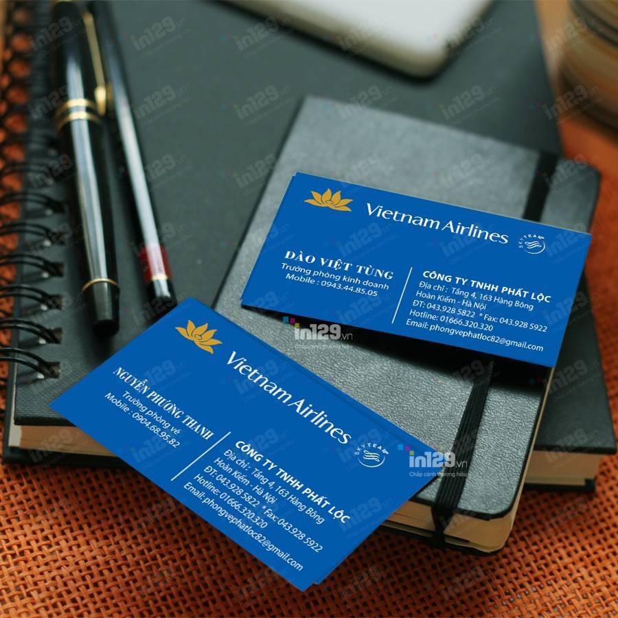 mẫu card visit phòng vé máy bay