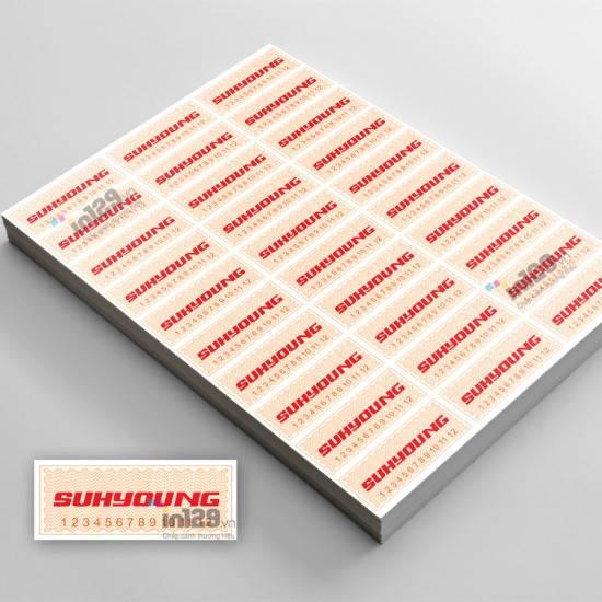 In tem bảo hành thiết bị âm thanh Công ty SUHYOUNG