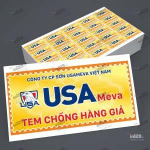 In tem bảo hành cấp tốc cho sản phẩm