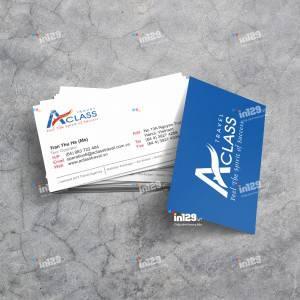 Mẫu card công ty du lịch AClassTravel