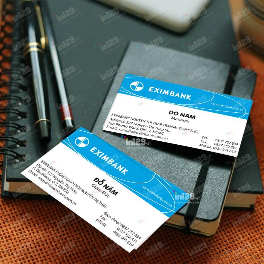 mẫu card visit ngân hàng