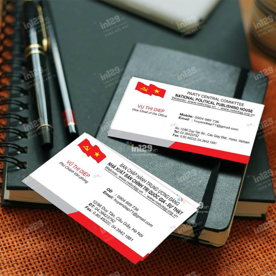 mẫu card visit nhà báo