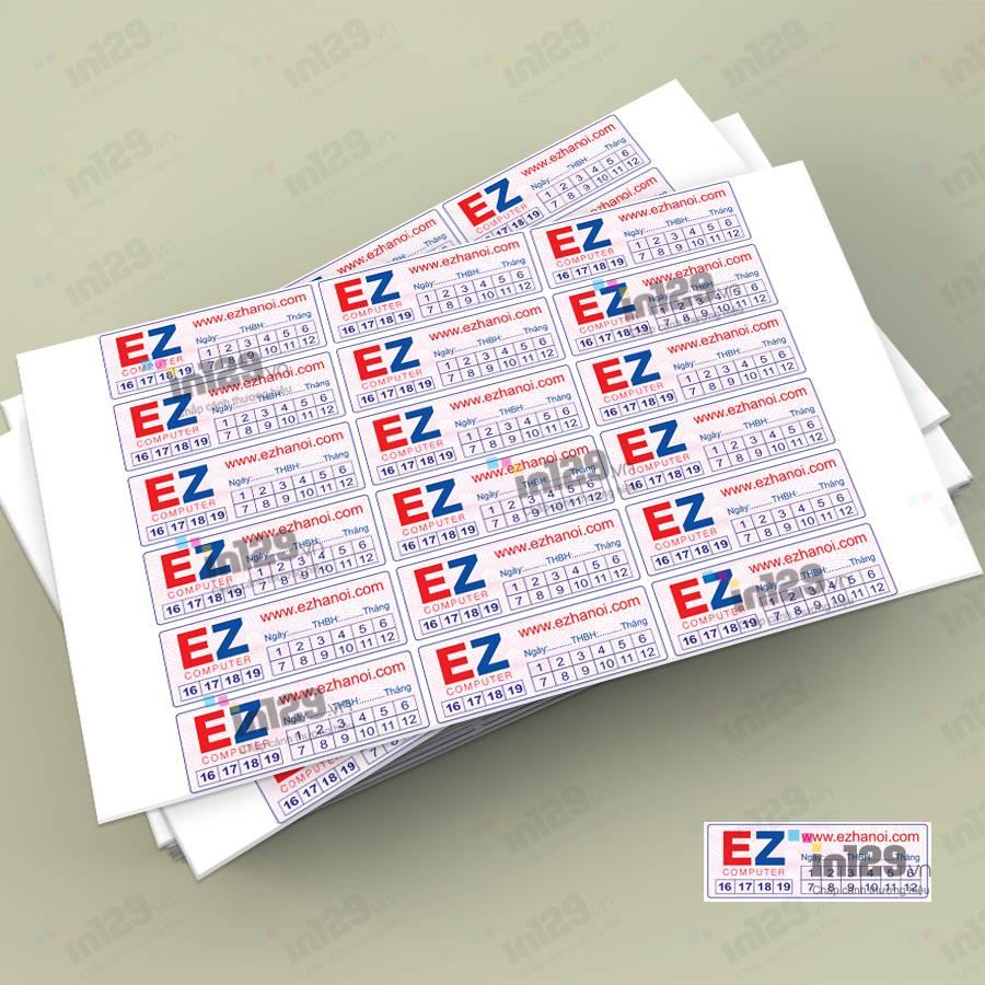 in tem bảo hành tại hà nội