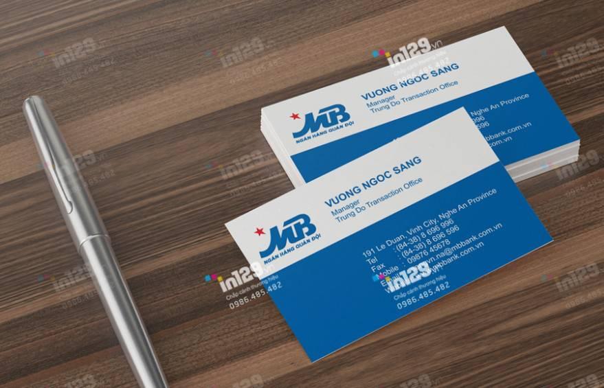 mẫu card visit ngành ngân hàng