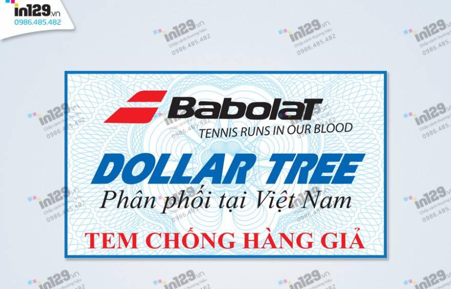 mẫu tem bảo hành vợt tennis