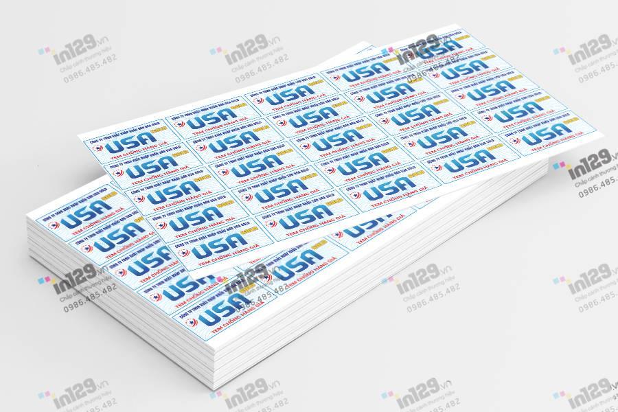Mẫu tem bảo hành đẹp, bền và bảo mật của hãng sơn USAMeva