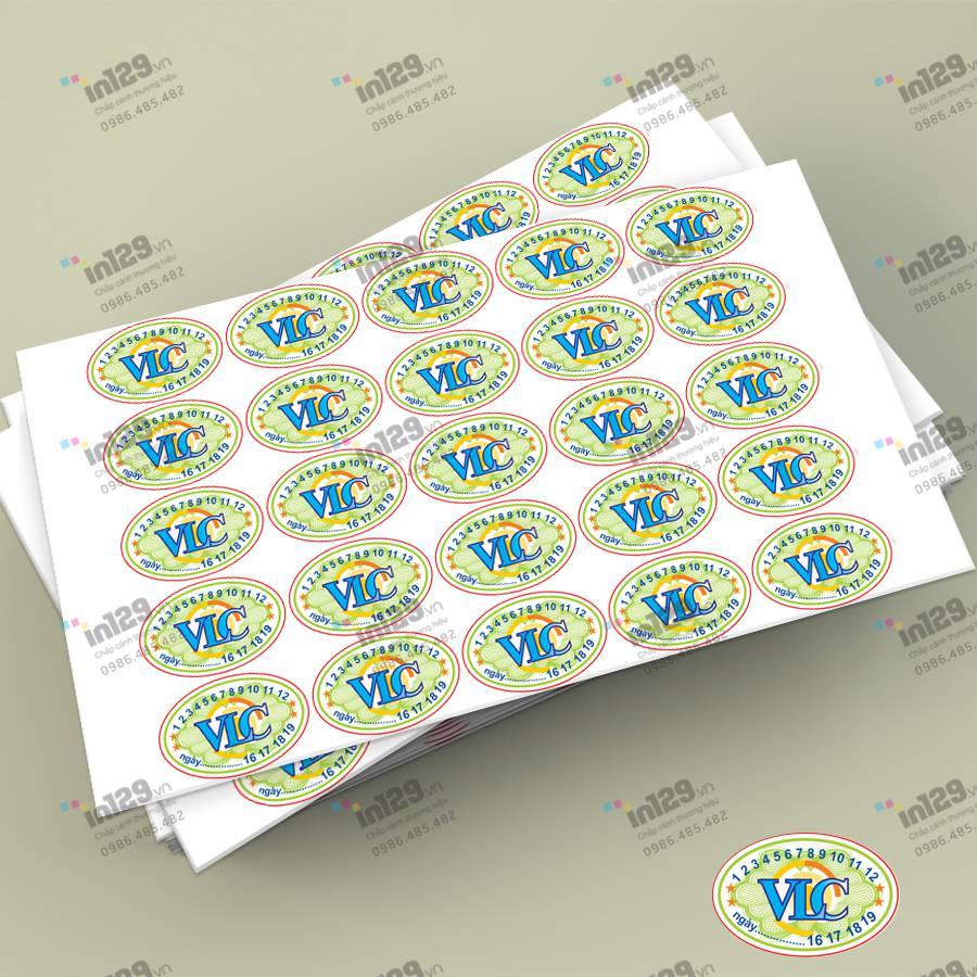 mẫu tem bảo hành elip