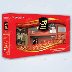 In hộp quà Tết cà phê G7 Trung Nguyên