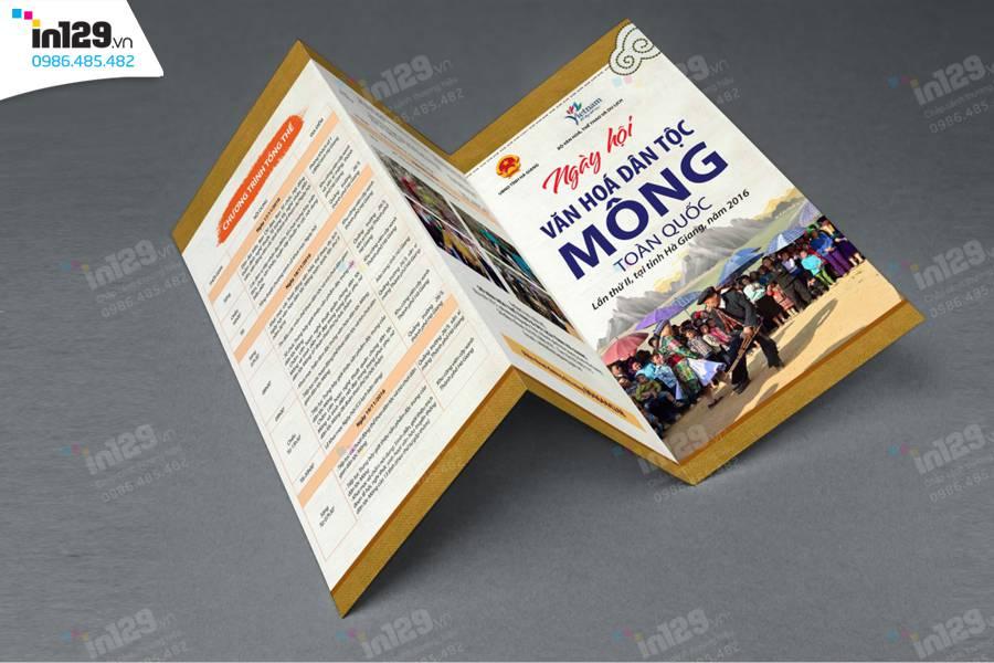 In tờ rơi quảng bá Ngày hội Văn hóa dân tộc Mông