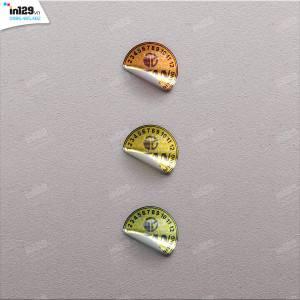 In tem bảo hành hình tròn cho Công ty Titan Việt Nam