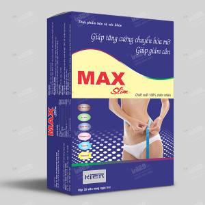 In hộp giấy thực phẩm chức năng Max slim