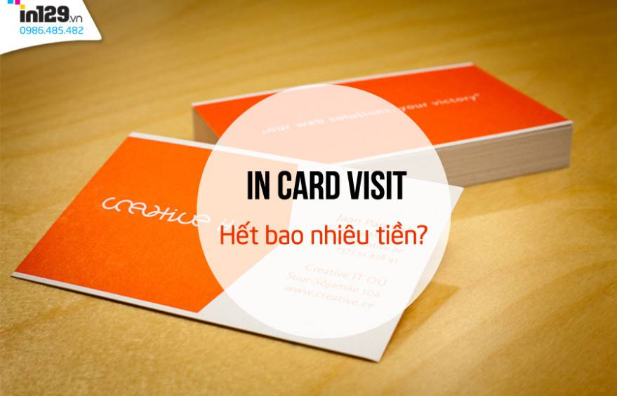 In card visit bao nhiêu tiền