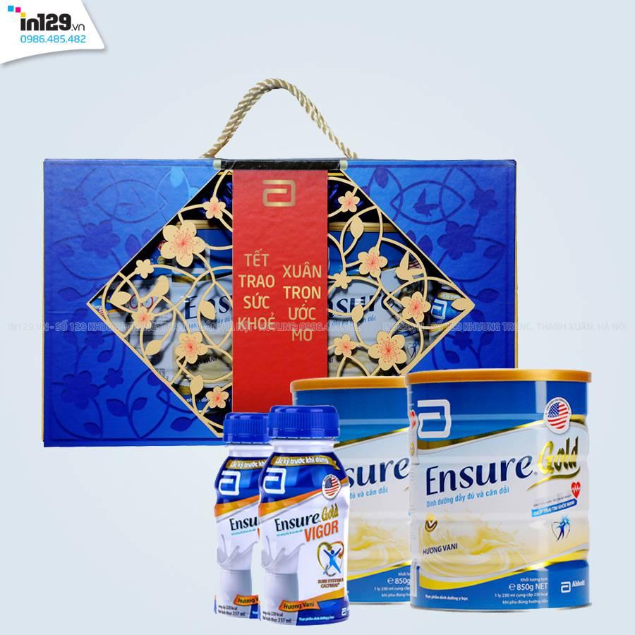 In hộp quà Tết 2017 sữa Ensure