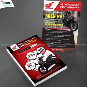Thiết kế và in tờ rơi hệ thống Honda Head Viễn Thuận Phát