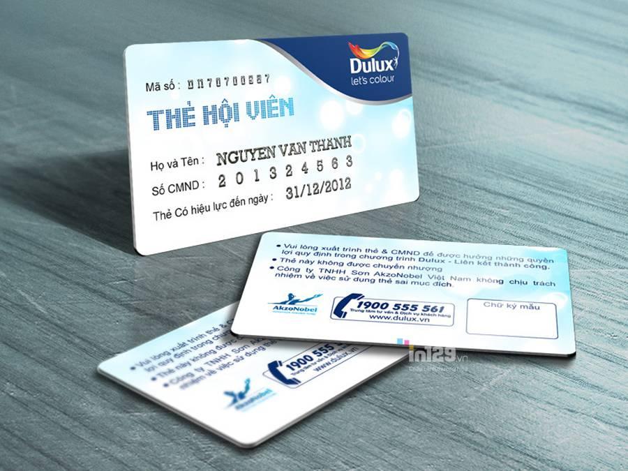 mẫu thẻ hội viên bằng nhựa