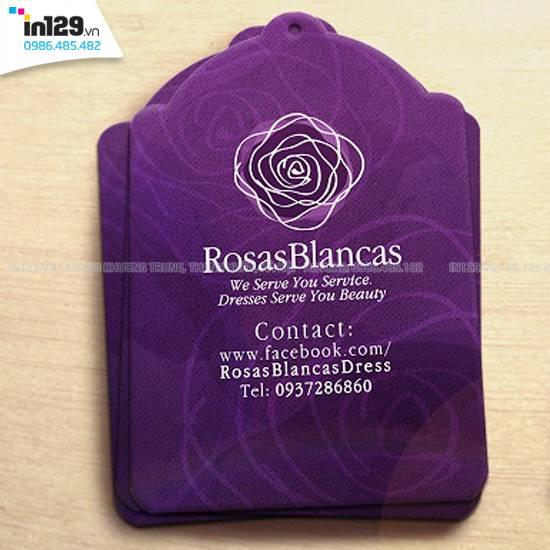 Mẫu mác treo quần áo shop áo đầm RosasBlancas