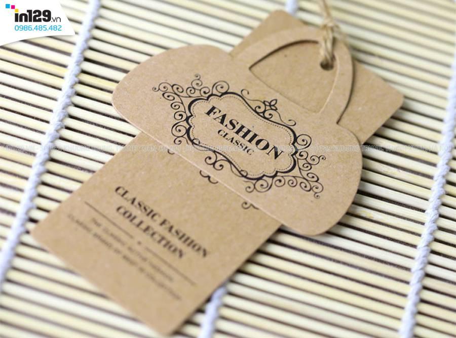 mẫu mác treo quần áo giấy kraft