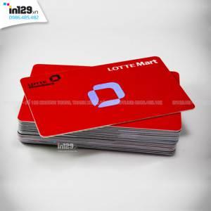 Mẫu thẻ khách hàng Lotte Mart bằng nhựa