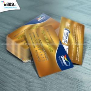 Mẫu thẻ hội viên vàng hãng sơn Dulux