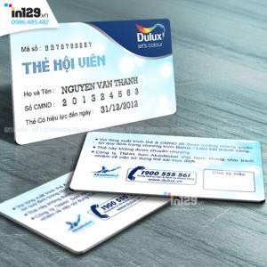 Mẫu thẻ hội viên của hãng sơn Dulux