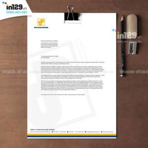 Mẫu tiêu đề thư đẹp của Công ty Phú Xuân Trường