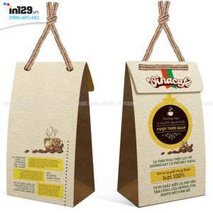 Mẫu túi giấy cà phê thương hiệu Vinacafe