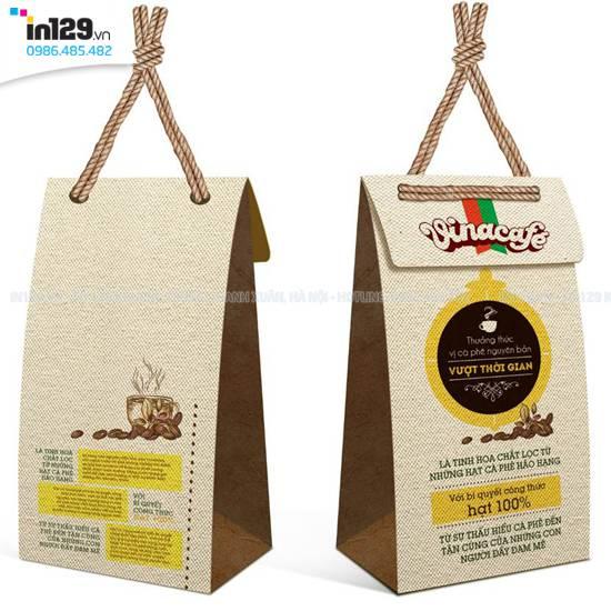 mẫu túi giấy cà phê