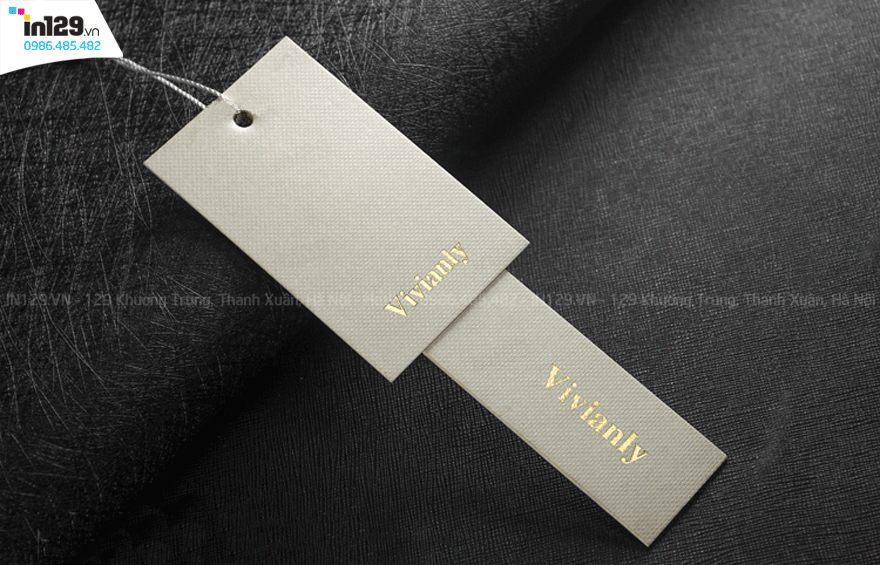 mẫu mác giấy quần áo