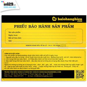 Mẫu phiếu bảo hành sản phẩm thương hiệu BaloHangHieu.com