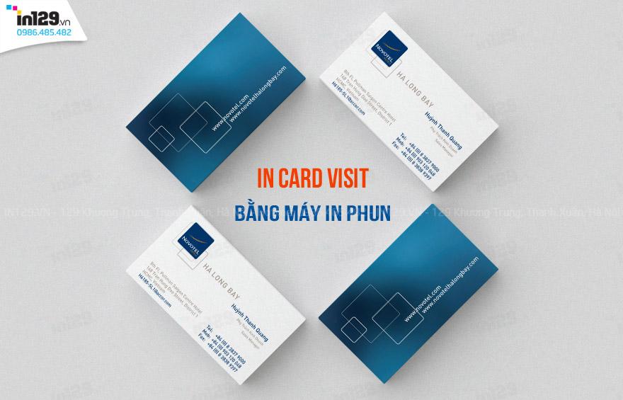 in card visit bằng máy in phun