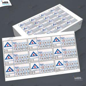 Mẫu tem bảo hành sản phẩm xây dựng cho Công ty TL Việt Nam