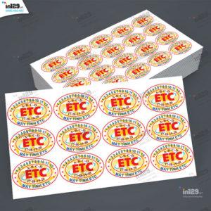 Mẫu tem bảo hành máy tính thương hiệu ETC