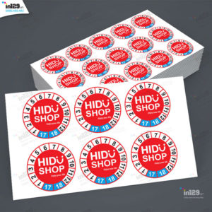 Mẫu tem bảo hành đẹp của HIDU shop